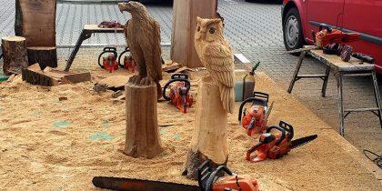 Holzschnitzkunst mit Kettensäge